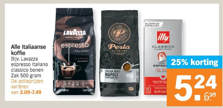 Caffe Vergnano   koffie, koffiecups folder aanbieding bij  AlbertHeijn - details