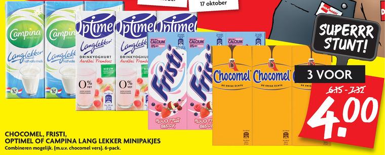Chocomel   chocolademelk, melk folder aanbieding bij  Dekamarkt - details