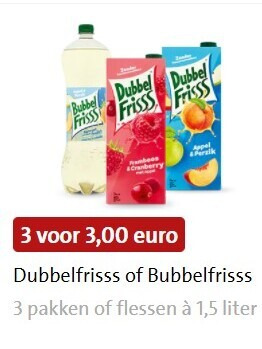 Bubbelfrisss   fruitdrank, frisdrank folder aanbieding bij  Jumbo - details