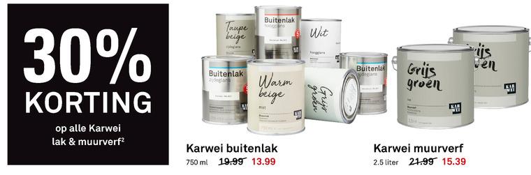 Karwei Huismerk Muurverf Lak Folder Aanbieding Bij Karwei Details