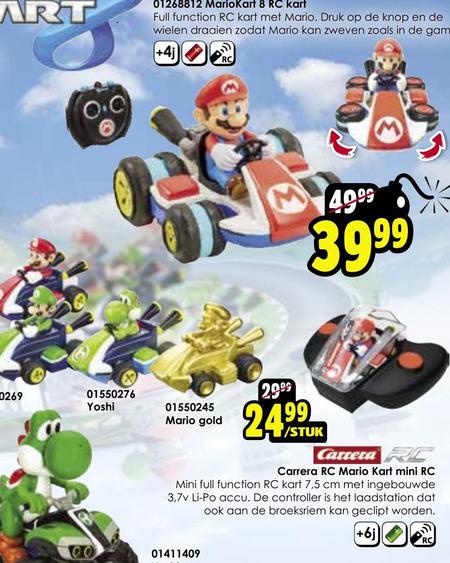 Super Mario Kart   auto met afstandsbediening folder aanbieding bij  ToyChamp - details