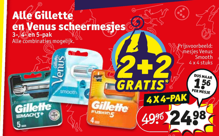 Gillette   scheermesjes, dames scheermesje folder aanbieding bij  Kruidvat - details