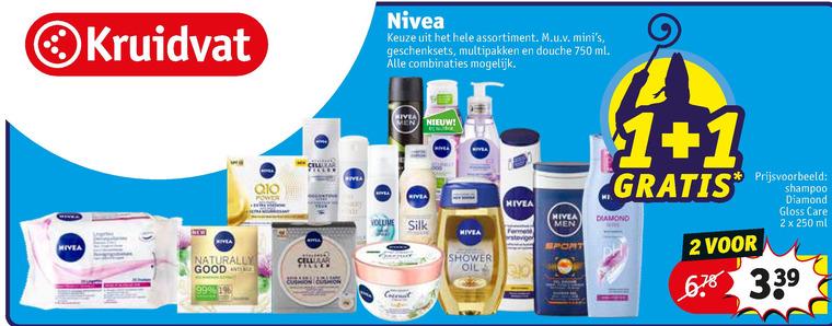 Nivea   deodorant, scheerschuim folder aanbieding bij  Kruidvat - details