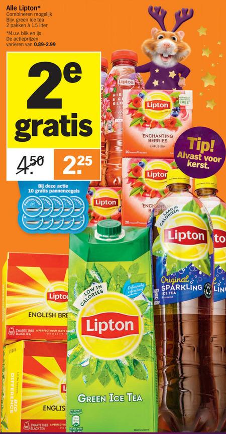 Lipton   ice tea, thee folder aanbieding bij  AlbertHeijn - details