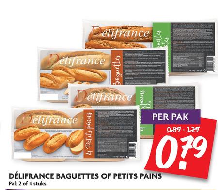 Delifrance   petit pain, stokbrood folder aanbieding bij  Dekamarkt - details