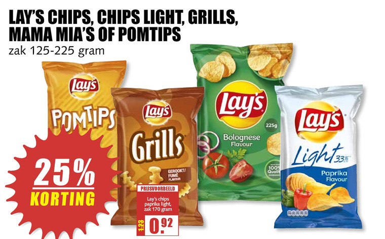 Lays   zoutje, chips folder aanbieding bij  MCDSupermarktBasis - details