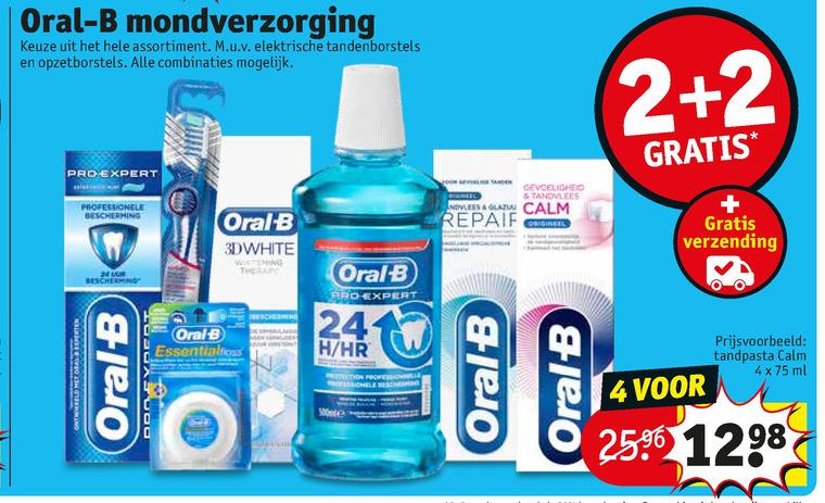 Oral-B   tandenborstel, flosdraad folder aanbieding bij  Kruidvat - details