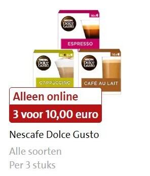 Nescafe   dolce gusto capsules folder aanbieding bij  Jumbo - details