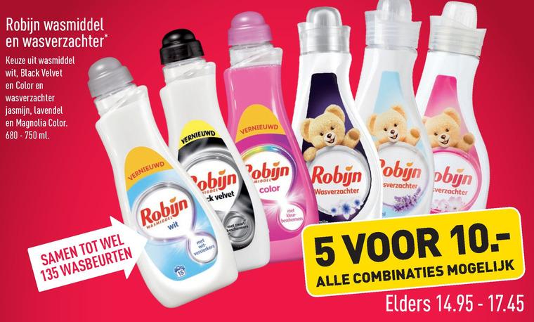 Robijn   wasverzachter, wasmiddel folder aanbieding bij  Aldi - details