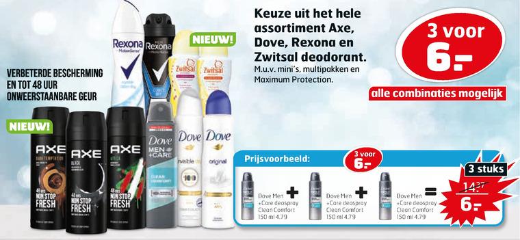 Rexona   douchegel, deodorant folder aanbieding bij  Trekpleister - details