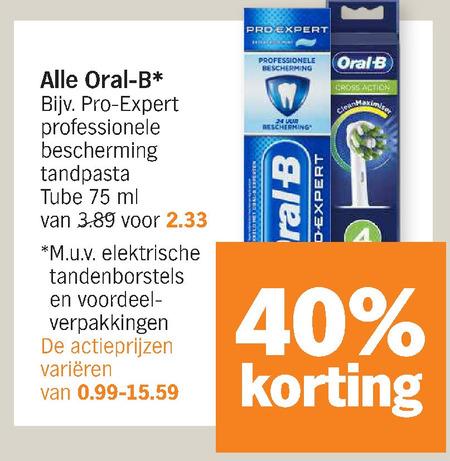 Oral-B   opzetborstel, tandpasta folder aanbieding bij  AlbertHeijn - details