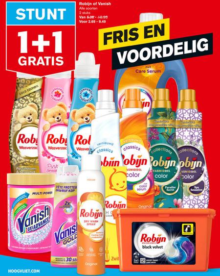 Robijn   wasmiddel, vlekkenverwijderaar folder aanbieding bij  Hoogvliet - details