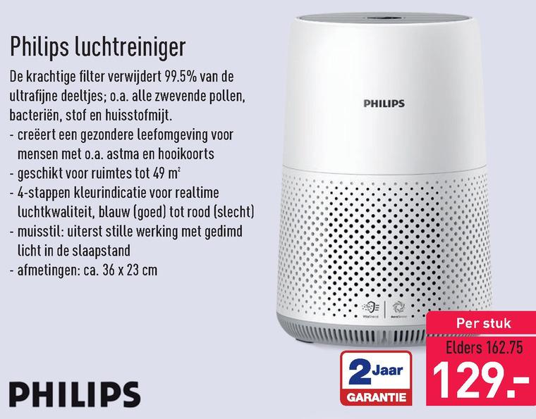 Philips   luchtreiniger folder aanbieding bij  Aldi - details