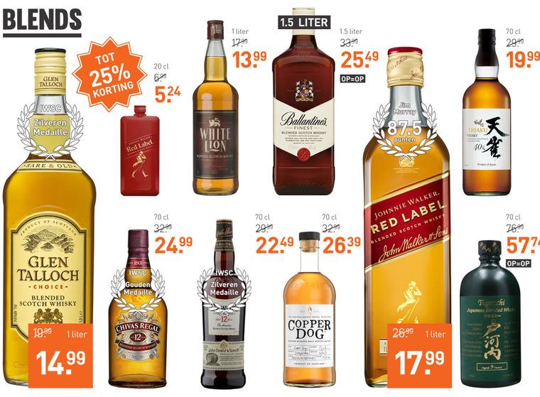 Chivas Regal   whisky folder aanbieding bij  Gall&Gall - details