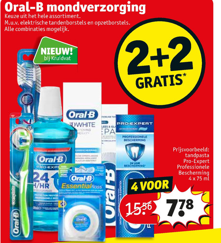 Oral-B   mondwater, tandenborstel folder aanbieding bij  Kruidvat - details
