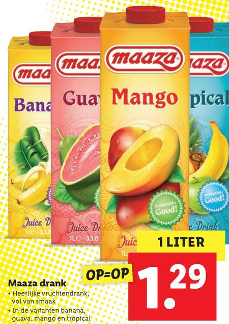 Maaza   fruitdrank folder aanbieding bij  Lidl - details