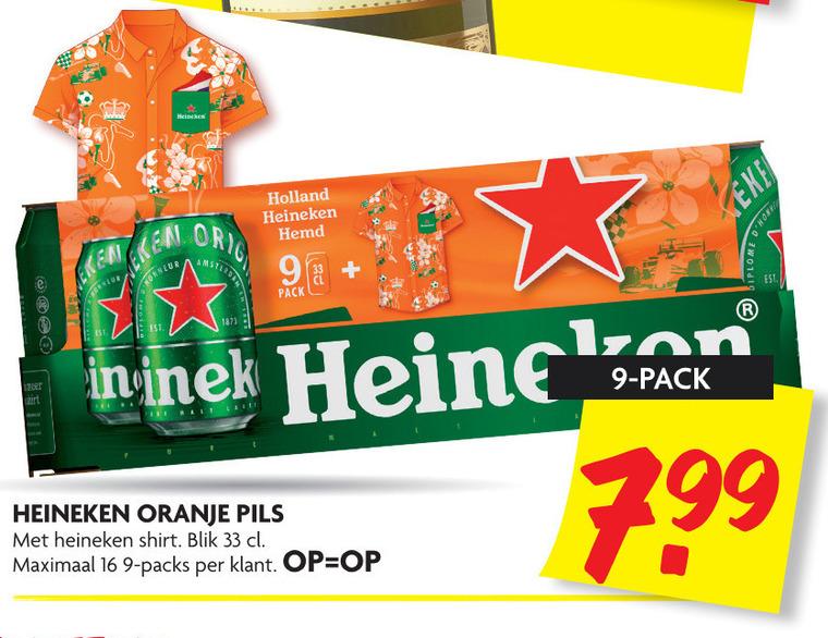 Heineken   blikje bier folder aanbieding bij  Dekamarkt - details