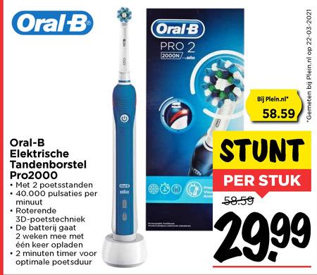 Braun Oral-B   electrische tandenborstel folder aanbieding bij  Vomar - details