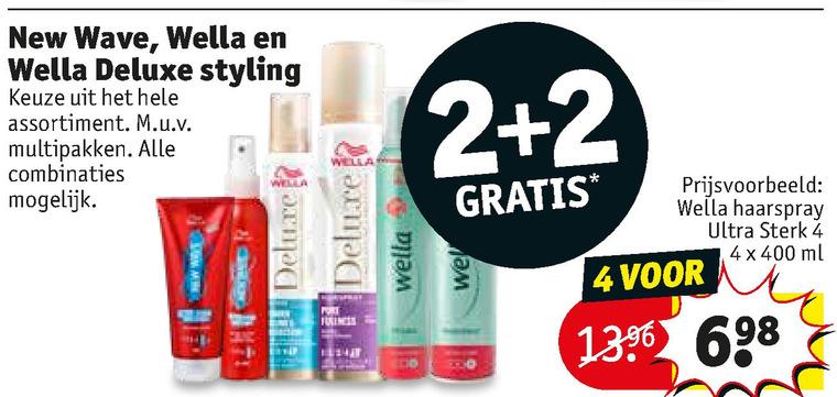 New Wave   hairspray, haargel folder aanbieding bij  Kruidvat - details