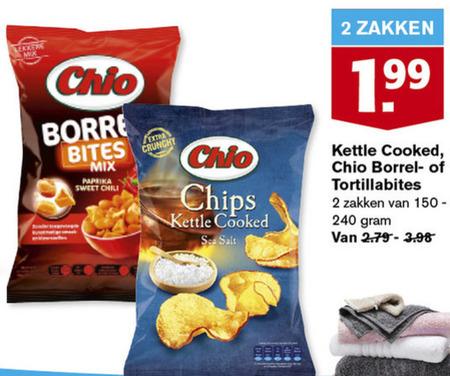 Chio   zoutje, chips folder aanbieding bij  Hoogvliet - details