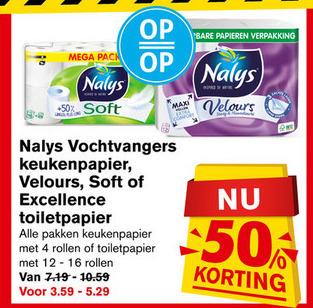 Nalys   toiletpapier, keukenpapier folder aanbieding bij  Hoogvliet - details
