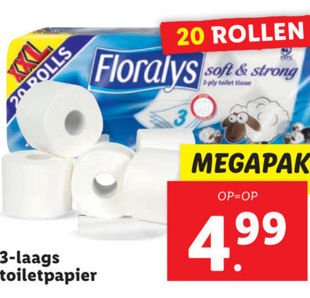 Floralys   toiletpapier folder aanbieding bij  Lidl - details