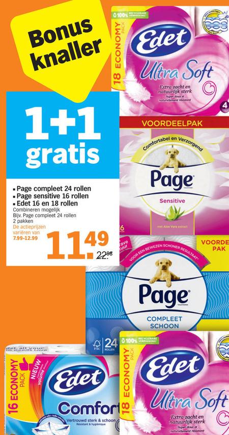 Edet   toiletpapier folder aanbieding bij  AlbertHeijn - details