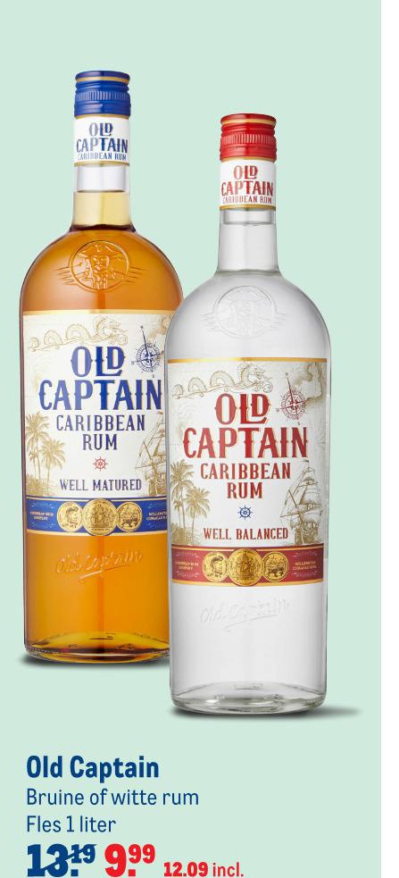 Old Captain   rum folder aanbieding bij  Makro - details