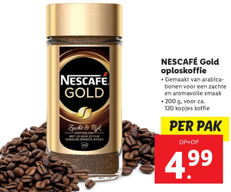 Nescafe   oploskoffie folder aanbieding bij  Lidl - details