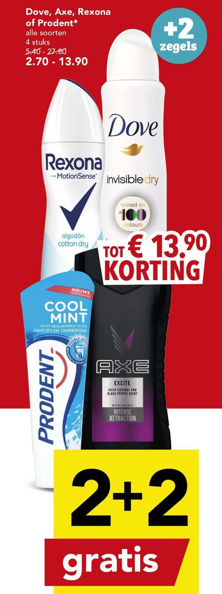 Rexona   douchegel, deodorant folder aanbieding bij  Deen - details