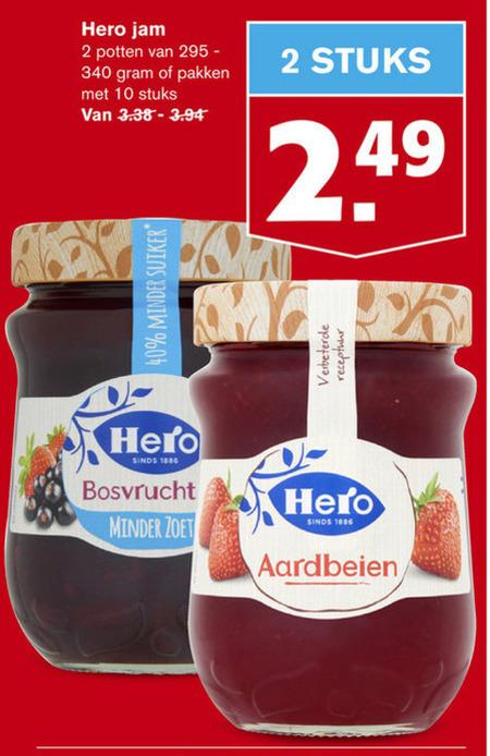 Hero   jam folder aanbieding bij  Hoogvliet - details