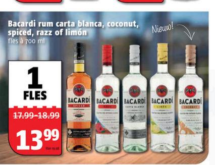Bacardi   rum folder aanbieding bij  Poiesz - details