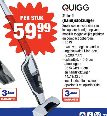 Quigg   steelstofzuiger folder aanbieding bij  Aldi - details