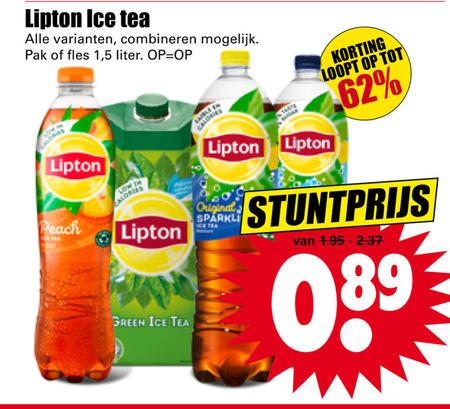 Lipton   ice tea folder aanbieding bij  Dirk - details