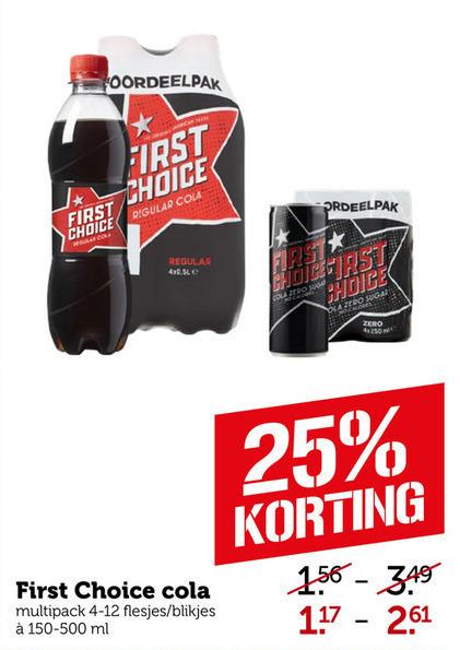 First Choice   cola folder aanbieding bij  Coop - details