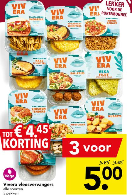 Vivera   vegetarisch folder aanbieding bij  Deen - details