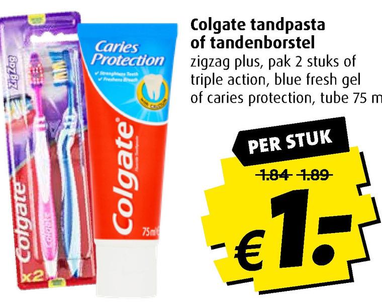 Colgate   tandenborstel, tandpasta folder aanbieding bij  Boni - details