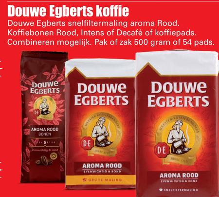 Douwe Egberts   koffiepad, koffiebonen folder aanbieding bij  Dirk - details