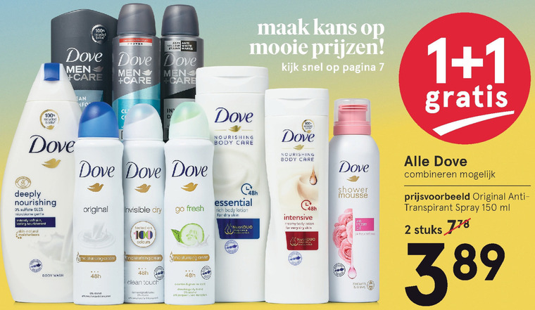 Dove   deodorant, bodylotion folder aanbieding bij  Etos - details