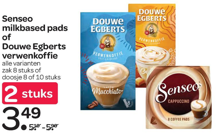 Douwe Egberts Senseo   oploskoffie, koffiepad folder aanbieding bij  Spar - details