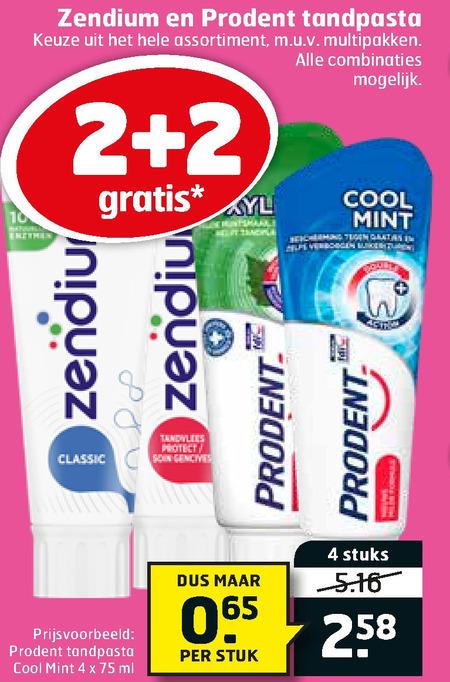 Zendium   tandpasta folder aanbieding bij  Trekpleister - details