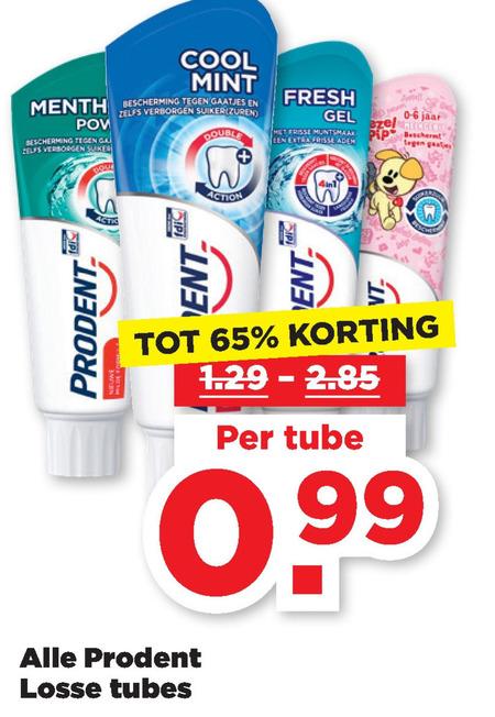 Prodent   tandpasta folder aanbieding bij  Plus - details