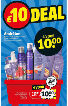 andrelon conditioner douchegel hairspray cremespoeling haargel shampoo haarverzorging 4x oil r 250 4 ml assortiment care 300 combinaties multipakken and