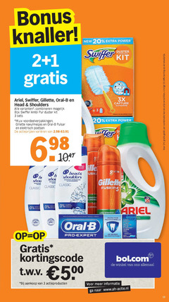 gillette head and shoulders ariel oral-b swiffer tandpasta shampoo wasmiddel scheergel scheerschuim vloerwisdoekjes 1 2 3 10 13 19 20 24 33 34 100 new power knaller duster kit 3x combinatie your oral b combineren ambi pur uv navulmesjes pulsar elektrisch poetsen vari capture meller derma care formula hi shampooing anti rc aerocino classic oor sensible parabens din aloe gevoel ultra sensitive tolon protection professionnelle cares haleine email pro-expert heures kortingscode 500 bol actieproducten www nl