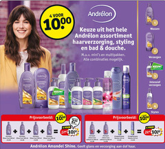 andrelon haarverzorging shampoo hairspray cremespoeling droogshampoo haargel douchegel conditioner haarmousse 4 5 6 10 11 27 99 250 300 1000 wassen assortiment styling bad douche mini multipakken combinaties verzorgen kruidvat amandel shine anda b intensief boost bel stylen stuk 02 zilver care ml colour volume glans verzorging dof haar