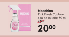 moschino eau de toilette 10 30 4170 pink fresh couture ml 30ml us