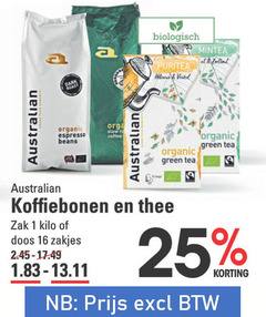 australian thee koffiebonen 1 2 9 11 13 16 17 19 25 45 biologisch at venkel towers organic espresso beans re coffee green tea zak kilo doos zakjes
