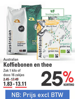 australian thee koffiebonen 1 2 11 13 16 17 25 45 biologisch at venkel towers organic espresso beans re coffee green tea zak kilo doos zakjes