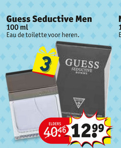 guess eau de toilette 3 100 seductive men ml heren elders