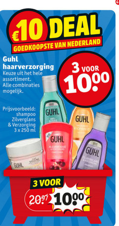 guhl shampoo haarverzorging conditioner 3 10 20 250 1000 deal nederland assortiment combinaties zilverglans verzorging ml